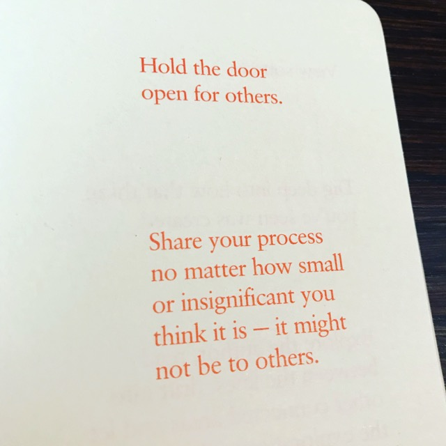 Holding the door open for others